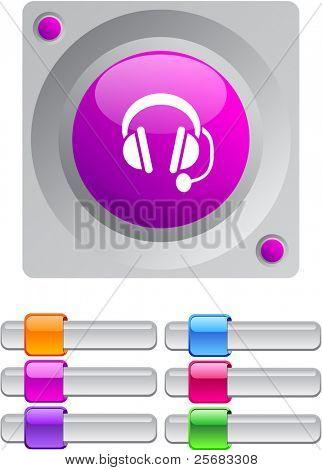 Chame centro vibrante redondo botão com botões adicionais.