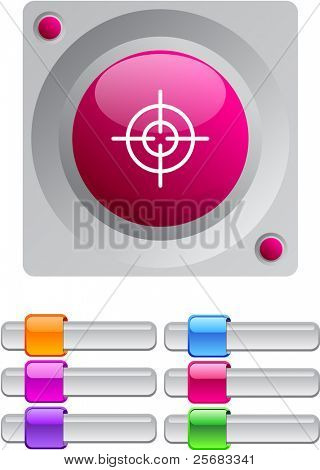 Sight vibrant round button with additional buttons.