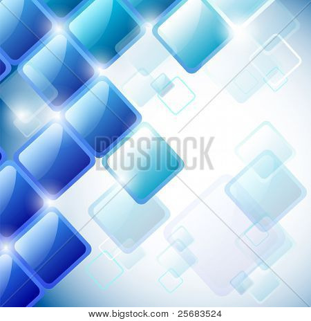 Abstract background of blue squares. Eps10 vector