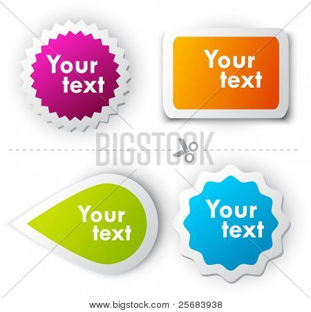 Colorful vector sticker for text