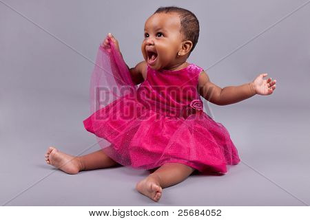 Adorable Little African American Baby Girl
