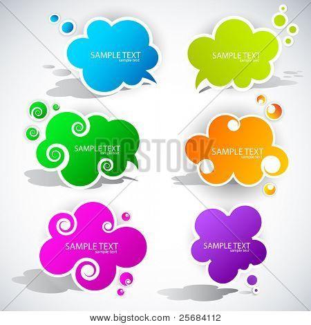 Burbuja de papel nube de discurso