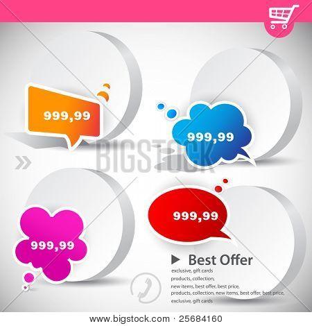 Web-Banner mit Produktpreise