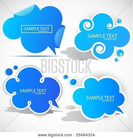 Paper cloud bubble for speech