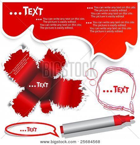 Rote Blase für Rede