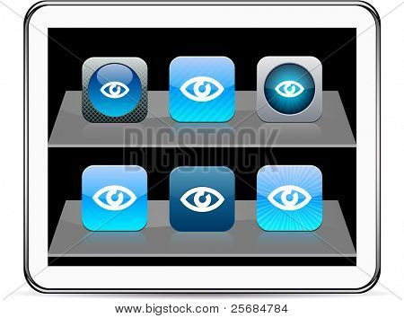 Eye Set of apps icons. Vector illustration doesn't contain transparency and other effects. EPS8 Only.