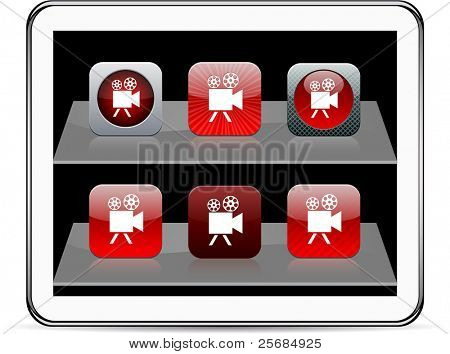 Video camera Set of apps icons. Vector illustration doesn't contain transparency and other effects. EPS8 Only.