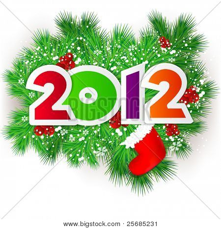Happy new year 2012. Vector design element.