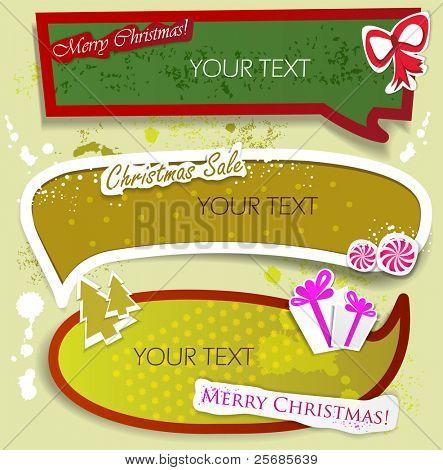 Paper bubbles for speech. Christmas Sale