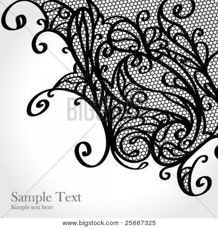 Black lace vector design