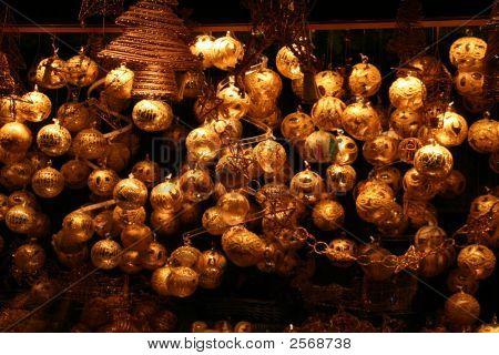 Golden Christmas Tree Decoration
