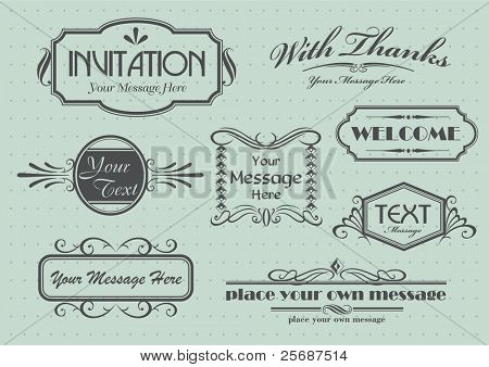 Page decoration with calligraphic elements design
