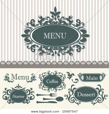 Vintage Menu Background - elements and page decoration