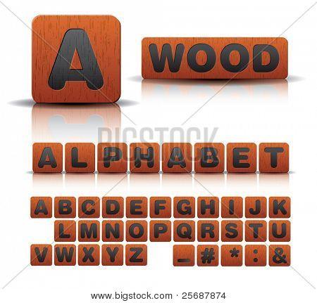 wooden alphabet set