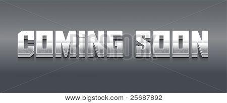 Chrome Coming Soon Vector Alphabet