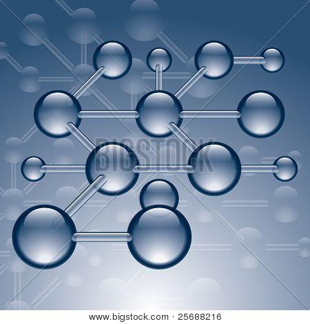Vector tekening van moleculaire structuur
