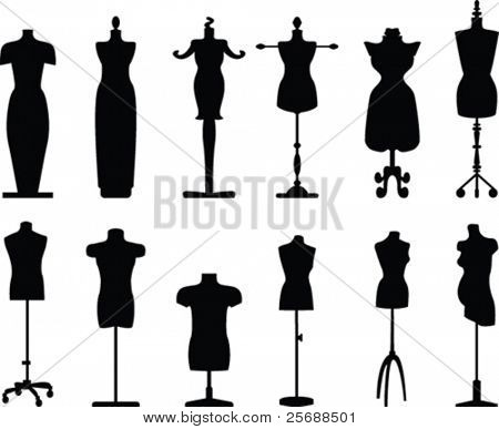Tailor dolls vector collection