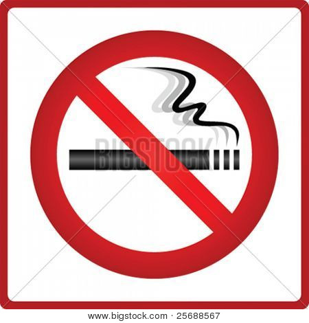 Vector no smoking sticker