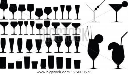 Colección de vidrio del vector