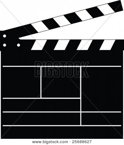 Vector clapper board