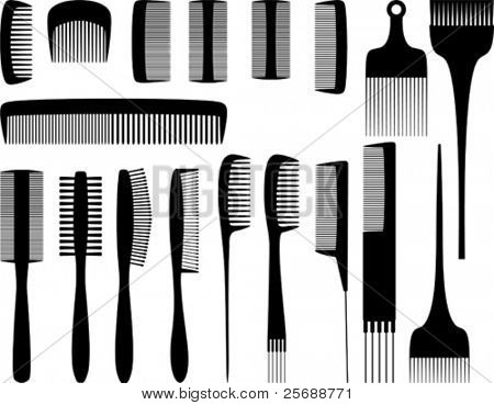 Vector hairdresser tools 1