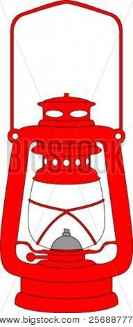 Vector red lantern