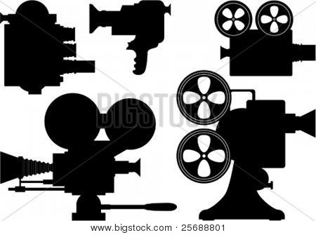 Movie or television film camera collection