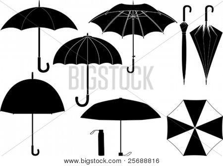 Colección de paraguas de Vector