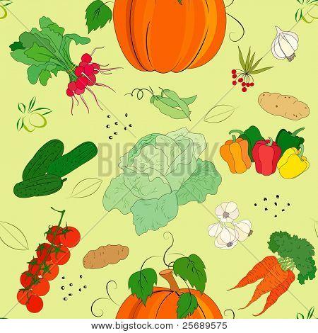 Gemüse seamless Pattern Vector illustration