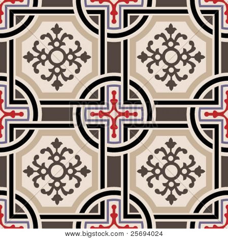 Vector ceramic tiles with seamless pattern 2