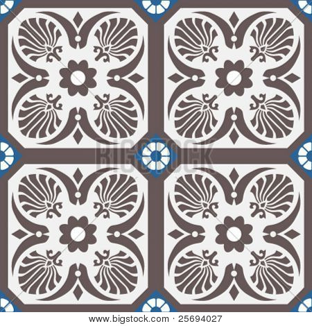 Vector ceramic tiles with seamless pattern 3