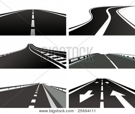Vector Illustration of a asphalt road