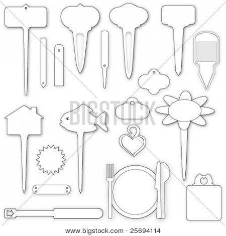 Vector Illustration of labels