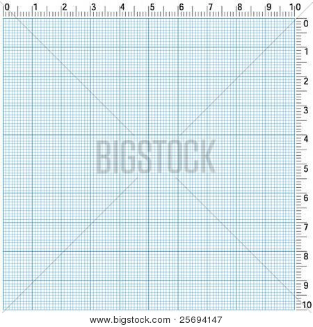 Blue graphing paper for engineering