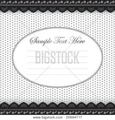 Cute black & white memo template