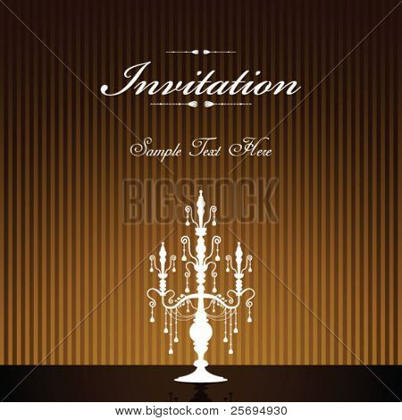 luxury chandelier invitation template 02