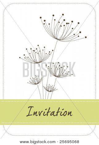 dandelion invitation template 02