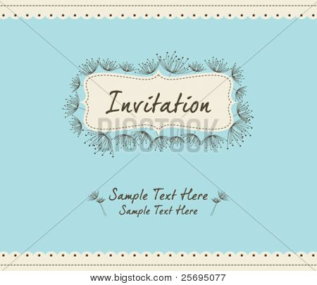 dandelion invitation template 04