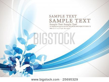 abstract flora background 06