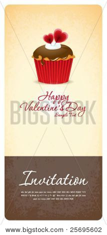 Vintage cupcake background 03