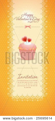 Vintage cupcake background 09