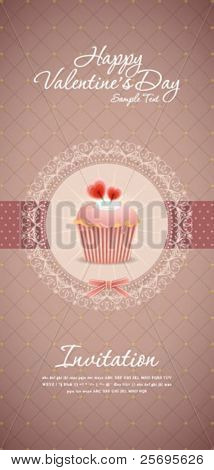 Vintage cupcake background 13