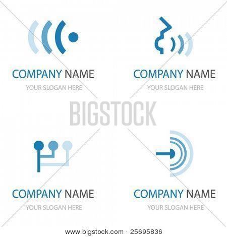 set van communicatie logo 's
