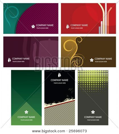 7 business cards templates