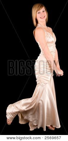 Beautiful Young Lady In An Evening Gown