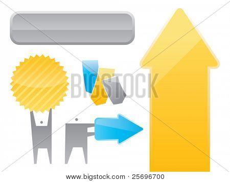 elementos de diseño del vector
