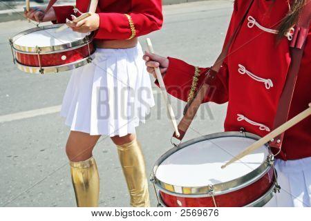 Two Drummer Girls.