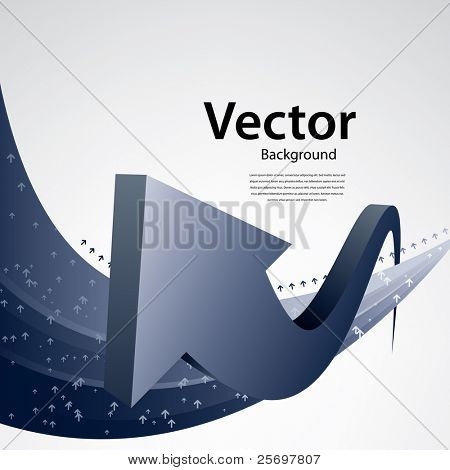abstract vector background with arrows, business template
