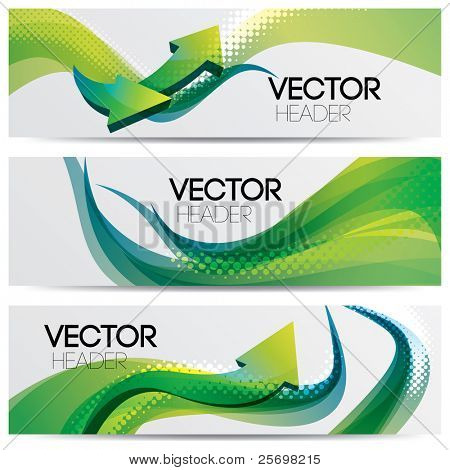 vector website headers, success concept