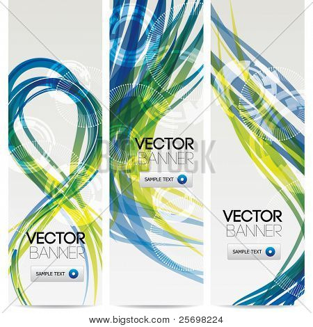 vector website banners, abstract nature concept